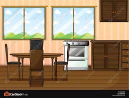 Clean Clipart Dining Room