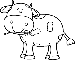 Cow Coloring Pages For Preschooler