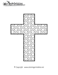 Complex Cross Coloring Page Printable