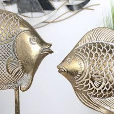 deko fische 41 cm gold nautic home
