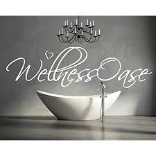 wandtattoo für ihr badezimmer wohnzimmer bad 68045 58x15 cm schriftzug wellness oase wandaufkleber aufkleber für die wand fliesen