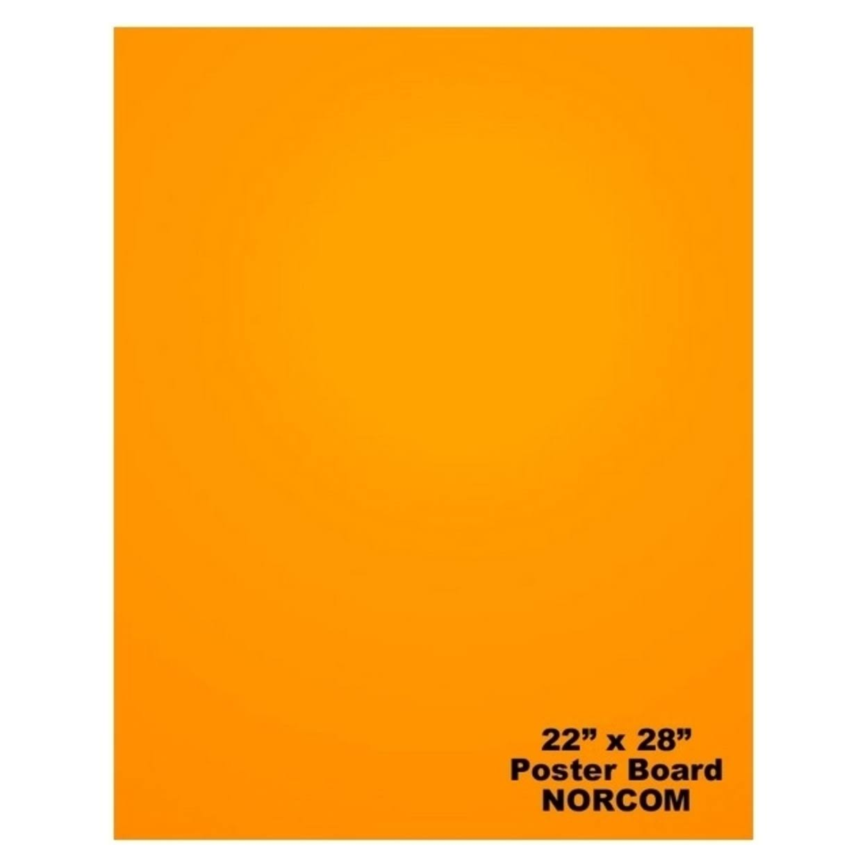 Norcom 79865-25 22 x 28 in. Poster Board, Orange - Pack of 25