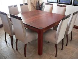Ebotse Solid Kiaat 8 Seater Square Dining Table