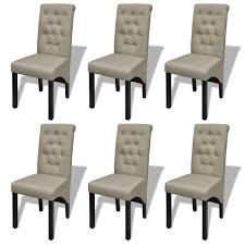 esszimmer stühle 6 stk stoff beige