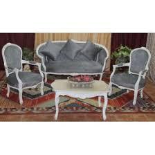 ottomane canapé salon louis xv 1 canapé ottomane 3pl avec 2 fauteuils et une table