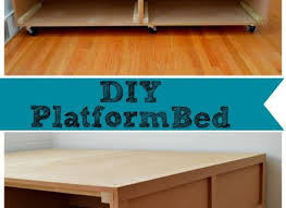 how to build a platform bed with casters quick woodworking