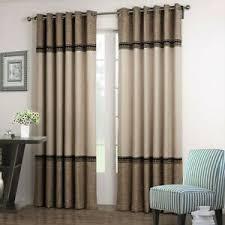 details zu luxus gardine vorhang blickdicht schlaf wohnzimmer ösen qualität 1er pack