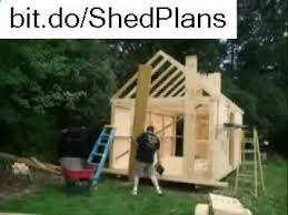 8x10 Saltbox Shed Plans by How To Build 8 X 10 Shed Plans Youtube