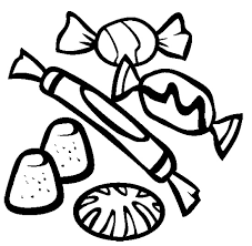 Assorted Candies Coloring Page