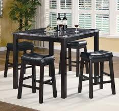 5 Piece Counter Height Dining Room Sets by Sophia 5 Piece Marble Look Counter Height Dining Set Counter