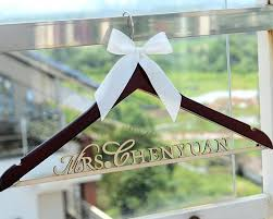 Rustic Wedding Hanger DIY Kit Personalized Dress Custom Wood Bridal Last Name Shower Gift LL015