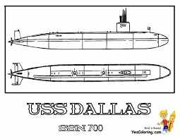 Print Off USS Dallas Picture At YesColoring