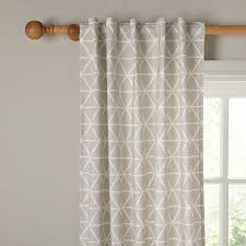 geometric pattern curtains canada plush design geometric curtains whiteblue linen striped geometric