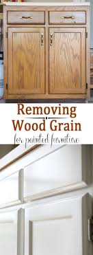 Painted Furniture Removing Wood Grain for a Smooth Finish