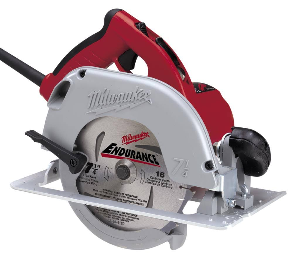 "Milwaukee Corded Electric Circular Saw Power - 7 1/4"", 15 Amp"