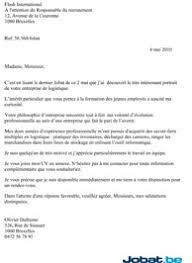 Lettre De Motivation Promotion Interne Lettres Modeles En La Lettre De Candidature Par L Exemple Jobat Be
