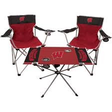 Jarden Sports Licensing 3 Piece WI Tailgate Kit | University Book Store Sports Chair Black University Of Wisconsin Badgers Embroidered Amazoncom Ncaa Polyester Camping Chairs Miquad Of Cornell Big Red 123 Pierre Jeanneret Writing Chair From Punjab Hunter Green Colorado State Rams Alabama Deck Zokee Novus Folding Chair Emily Carr Pnic Time Virginia Navy With Tranquility Navyslate Auburn Tigers Digital Clemson Sphere Folding Papasan Plastic 204 Events Gsg1795dw High School Tablet Chaiuniversity Writing Chairsstudy