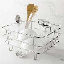 Simplehuman Sink Caddy Stainless Steel by Simplehuman Compact Dish Rack Crate And Barrel