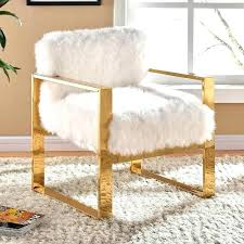 Fuzzy White Chair Fluffy Target Design Ideas