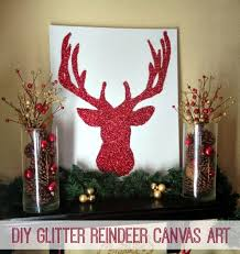 Learn How To Make Your Own Glitter Reindeer Canvas Art Easy Tutorial