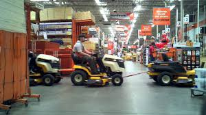 The Home Depot lawn mower tractor pull train ride