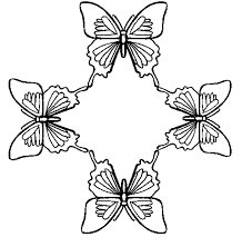 FREE Butterfly Coloring Pages Circle