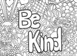 Be Kind Word Coloring Pages