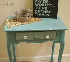 Side Table Flip Distressed With Chalk Paint