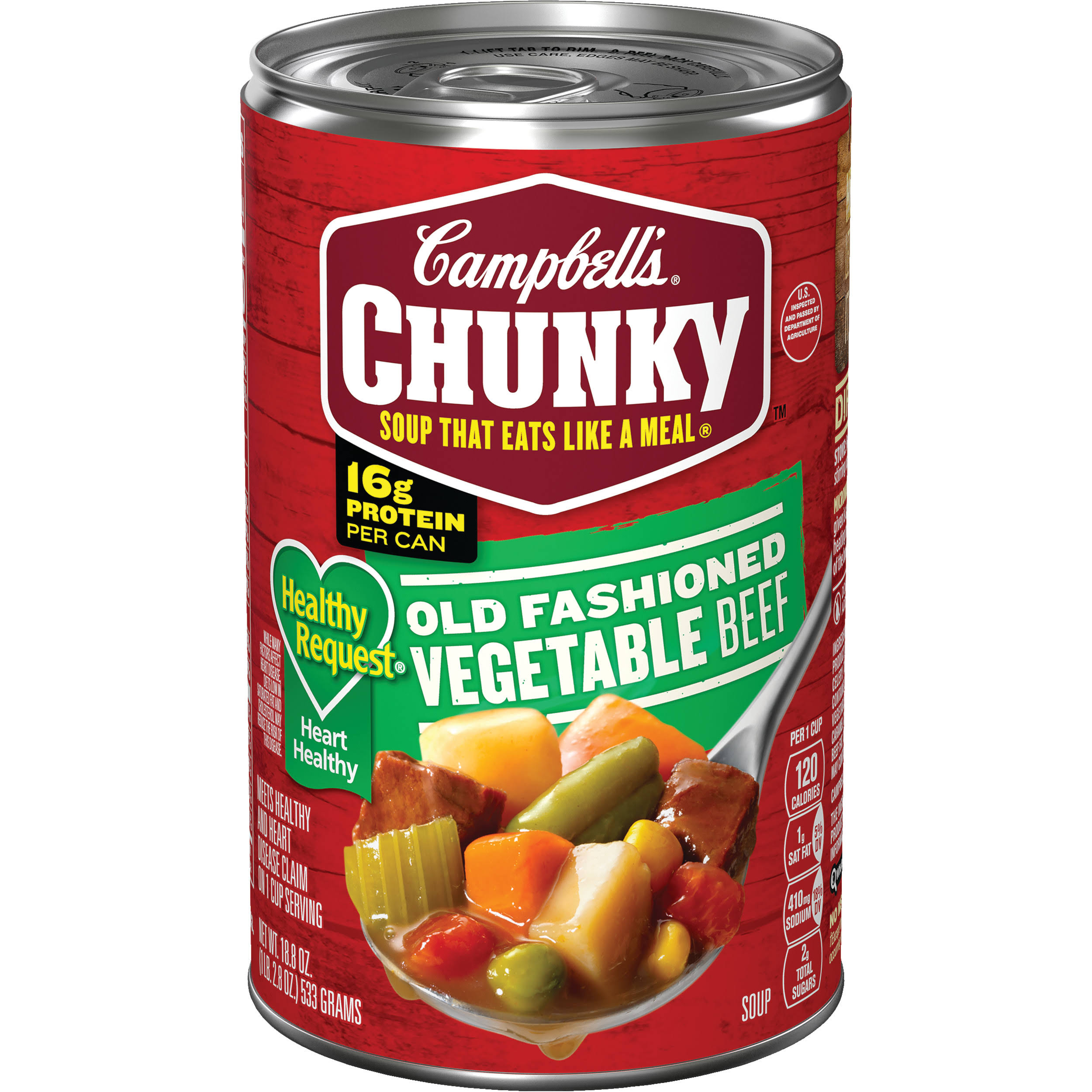 Campbell's Chunky Healthy Request Old Fashioned Vegetable Beef Soup - 533g