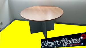 materiel bureau table ronde de reunion bureau diametre 116 cm materiel