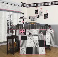 Ty Pennington Bedding by Geenny Black White Flower U0026 Dot 13pcs Crib Bedding Set