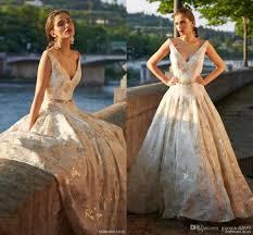 stephanie allin bridal 2017 gold sleeveless princess plus size