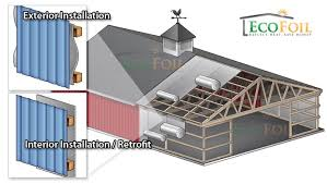 pole barn wall insulation radiant vapor barrier wall insulation