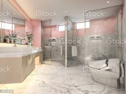 3d rendering rosa vintage badezimmer mit luxuriösen fliesen dekor stockfoto und mehr bilder architektur