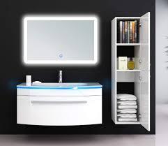 oimex kimia 70 cm badmöbel set mit led spiegel 1x