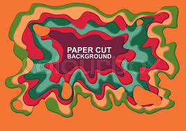 Abstract Paper Cutting Shapes Art Background Vector Illustration Design Template For Web Banners Business Presentations Posters Flyers