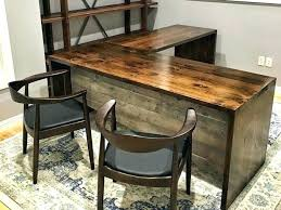 Reclaimed Wood Desk Top Office Furniture Modern Custom Custom Wood Office Furniture Custom Solid Wood Office Furniture