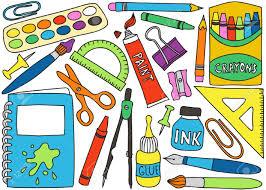 fournitures de bureau illustration de l école ou de fournitures de bureau dessins sur