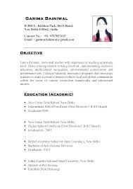 Teaching Resumes Samples Secondary Teacher Resume Examples