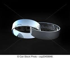 White Gold Platinum Wedding Rings Linked To her Stock Illustration