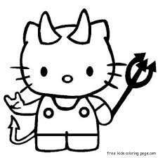 Print Out Hello Kitty Halloween Coloring BookFree Printable