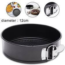 springform ø 12cm kuchenform rund backform schwarz mit antihaftbeschichtung schwarzblech