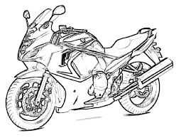 Coloring Pages Free Boys Motorcycle Printable Sheets