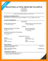 Beginning Actor Resume Me Beginner Idea For A Research Paper Three Essays