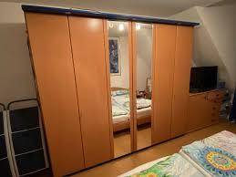 schlafzimmer buche blau komplett