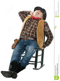 100 Cowboy In Rocking Chair Laughing Old Stretches Stock Image Image