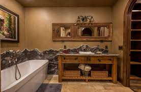 Plastered Walls Bring Rustic Magic To The Charming Bathroom Design Cabinet Concepts By
