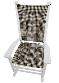100 Final Sale Rocking Chair Cushions Checkers Black White Checkered Latex Foam
