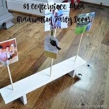 cheap centerpiece idea graduation party décor diy cleverly inspired