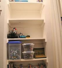building wood shelves in a closet woodworking workbench